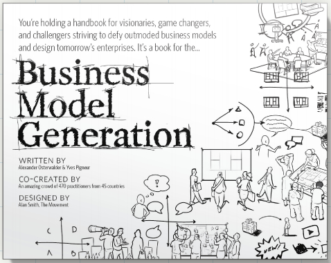 Image of the cover of the book 'Business Model Generation'.